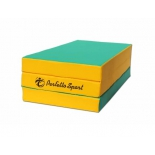 мат гимнастический Perfetto Sport № 4, зелёно-жёлтый