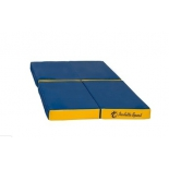 мат гимнастический Perfetto Sport № 11 (складной), сине-жёлтый