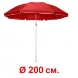 зонт садовый Торг-хаус Красный с регулируемым наклоном, диаметр 200 см
