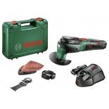 шлифмашина Bosch UniversalMulti12 2.5Ач х1 кейс, зеленый