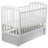 детская кроватка Papaloni Джованни (маятник), белая