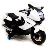 электромобиль RiverToys Superbike Moto A007MP, белый