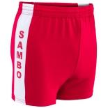 шорты защитные для самбо, красные (р.34-42)