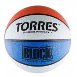 мяч баскетбольный TORRES Block р.7 бело-сине-красный
