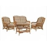кресло садовое Комплект для отдыха Мебель Импэкс Kelly-2 МИ цвет коньяк