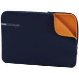 сумка для ноутбука Чехол Hama Notebook 13.3, синий/оранжевый