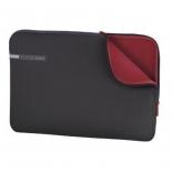сумка для ноутбука Чехол Hama Notebook 13.3, серый/красный