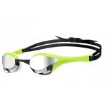 очки плавательные Arena Cobra Ultra Mirror (1E032 66), серебристо-зелено-белые