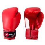 перчатки боксерские Rusco 4oz, к/з, красные