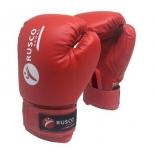 перчатки боксерские Rusco 10oz, к/з, красные