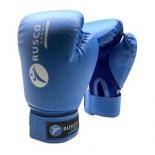 перчатки боксерские Rusco 8oz, к/з, синие