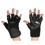 перчатки для фитнеса Starfit SU-124 (размер: M), черно-серые