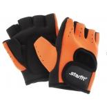перчатки для фитнеса Starfit SU-107 (размер:  XL), оранжево-черные