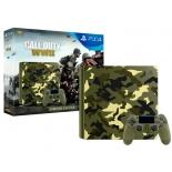 игровая приставка Sony PlayStation 4 Slim 1Tb (CUH-2108B) + Call of Duty - WW II SE