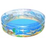 бассейн надувной Bestway Transparent Sea Life 51045 (круглый)