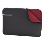 сумка для ноутбука Чехол Hama Neoprene Notebook Sleeve 15.6, серый/красный