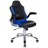 игровое компьютерное кресло Бюрократ VIKING-1, черное/синее