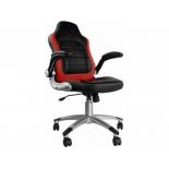 игровое компьютерное кресло Бюрократ Viking-1, черное/красное