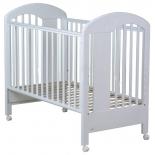 детская кроватка Fiorellino Fiore (на ножках), белая