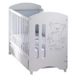 детская кроватка Micuna Sweet Bear с матрацем, белая