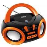 магнитола  Hyundai H-PCD120, черная/оранжевая
