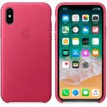 Чехол для смартфона Apple iPhone X Leather Case (MQTJ2ZM/A), Pink Fuchsia, купить за 3 625руб.