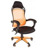 игровое компьютерное кресло Chairman game 12 black/orange