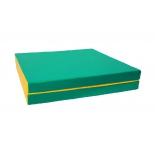 мат гимнастический КМС № 10 (100 х 150 х 10) складной 1 сложение зелёно-жёлтый