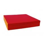 мат гимнастический КМС № 10 (100 х 150 х 10) складной 1 сложение красно-жёлтый