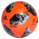 мяч футбольный Adidas WC2018 Telstar Glider (р. 4), серо-черно-красный