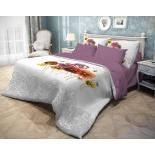 комплект постельного белья Волшебная ночь, ранфорс, 2,0-спальный, нав. 70x70*2, Fialki