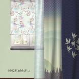 штора рулонная Волшебная Ночь 713817 (60x175), стиль Этно, Flashlights, серая