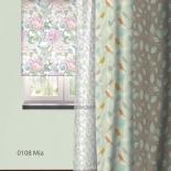 штора рулонная Волшебная Ночь 713832 (80x175), стиль Прованс, Mia, белая