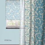 штора рулонная Волшебная Ночь 713810 (60x175), стиль Прованс, Eva, голубая