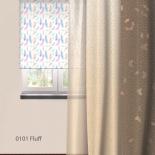 штора рулонная Волшебная Ночь 713816 (60x175), стиль Этно, Fluff, белая