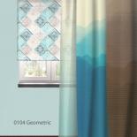 штора рулонная Волшебная Ночь 713618 (120x175), стиль Лофт, Geometric, бирюзовая