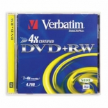 оптический диск DVD+RW Verbatim 4.7Gb 4x Jewel Case (1 шт)