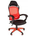 игровое компьютерное кресло Chairman game 12, чёрное/красное