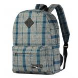 рюкзак городской Борт 7312, меланж-клетка-синий