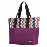 сумка женская Nosimoe (054D)  фиолетовый-зигзаг, фиолетовый верх