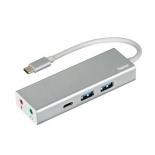 USB-концентратор HAMA USB 3.1 Aluminium (00135758) серебристый