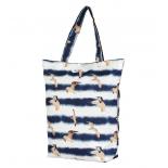 сумка женская Nosimoe 3152-2 тоут (чайки-полоски)