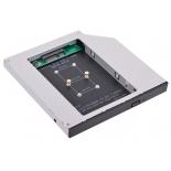аксессуар для ноутбука Espada MS12, dvd slim 12.7mm to hdd (mini sata to msata)
