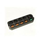 сетевой фильтр Удлинитель Most A10 5 м (6 розеток) черный