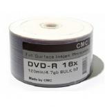 оптический диск DVD-R CMC 4.7 Gb, Full Ink Print (50 шт)