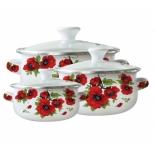 набор посуды для готовки Zeidan Z-80610-04 (3 кастрюли)