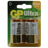 батарейка GP Ultra Alkaline 13AU (2 батарейки типоразмера D)