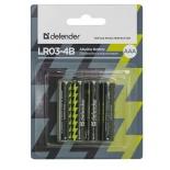 батарейка Defender LR03-4B 4PCS 56002 alkaline 4шт ААА
