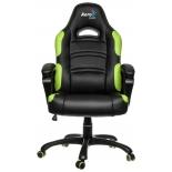 игровое компьютерное кресло Aerocool AC80C AIR-BG, черно-зеленое