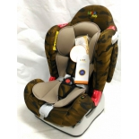 автокресло детское Liko Baby LB-510 (до 25 кг), коричневое/камуфляж